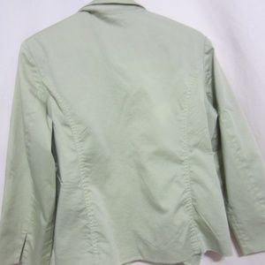 CHICO'S Jackets & Coats - CHICO'S SZ 2 PALE SEA GREEN LINED JACKET